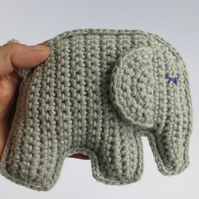 Elephant, Crochet Toy, Baby Gift, Cotton yarn, Customised options