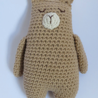 Teddy bear, Crochet toy, Baby gift, Shelf sitter, Photo shoot prop, Cotton yarn