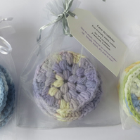 Face scrubbies set of 4, reusable face wipes, washable makeup remover pads