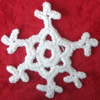 Christmas snowflake decoration, crochet snowflake, hanging decoration