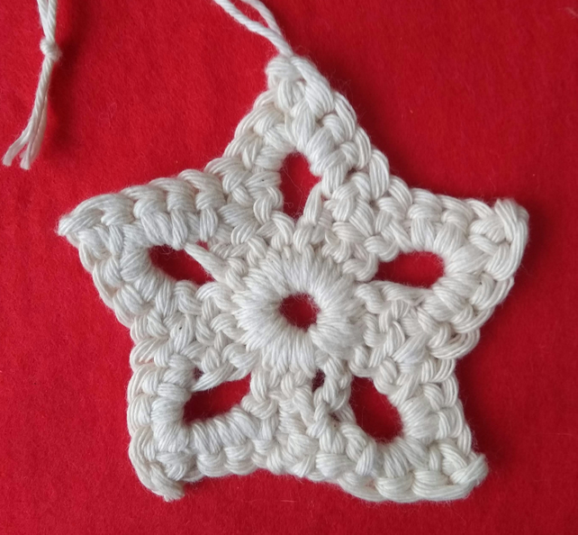 Christmas star decoration, crochet star, hanging decoration, gift tags