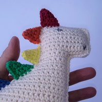 Dinosaur, Crochet Toy, Baby Gift, Rainbow gift, Cotton yarn