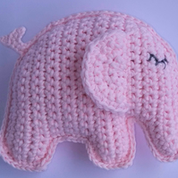 Elephant, Crochet Toy, Baby Gift, Cotton yarn, Pink