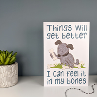 Mental Health Support Card - Funny Dog Card