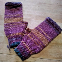 Wristwarmers - wool blend - size S-M adult