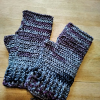 Wristwarmers - wool blend - size medium adult