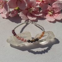 Confidence Boosting Bracelet, Sterling Silver and Semi Precious Gemstones