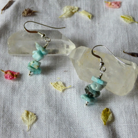 Larimar and Sterling Silver Drop Earrings