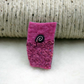 Hand felted pink brooch