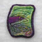 Felted hand made brooch
