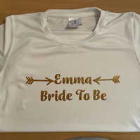 Personalised Bride To Be Hen T-shirt