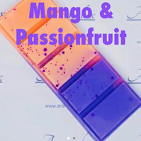 Mango & Passionfruit wax melt chunky bar. Other wax melts sizes available