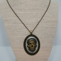 Resin Sugar Skull or Day of the Dead Pendant