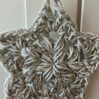 Crochet Star Hanging Decoration