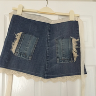 Denim & Lace Craft Apron