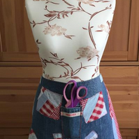 Handmade Denim & Patchwork Craft Apron