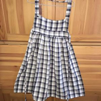 Child's Grey Gingham Check Apron