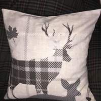 Handmade Stag Cushion Cover
