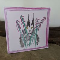 Blank card, Greeting Card, Birthday Card, cat, Maine Coon - MCCH