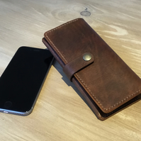 Handmade Leather mobile phone case, purse, wallet, sleeve.