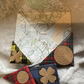 Origami Corner Page Keepers Upcycled Bookmarks Set of 4 Tartan Scottish RaggySu