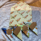 Origami Corner Page Keepers Upcycled Bookmarks Child's Set of 4  RaggySu (K22)