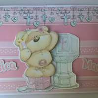 Girls Christening card, Girls Baptism Card