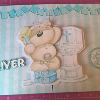 Boys Christening Card, Boys Baptism Card,