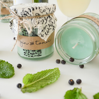 Hand Poured Candle 'Gin&Tonic' Handcrafted Welsh Candles