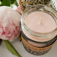 Hand Poured Candle 'Peony in Bloom' Handcrafted Welsh Candles