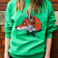 Mr Fox Jumper Silk Screen Printed Unisex Illustrated Sweatshirt