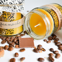 Hand Poured Candle 'Coffee Mocha' Luxury Handcarfted Welsh Candles