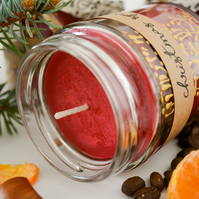 Christmas Scent Hand Poured Soy Candle