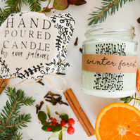 Winter Forest Hand Poured Candle