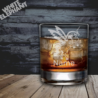 Laser Etched Personalised Unicorn Whiskey-Highball-Pint-Tankard Glass Gift