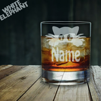 Laser Etched Personalised Cat Whiskey-Highball-Pint-Tankard Glass Gift