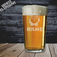 Laser Etched Personalised Star Wars Ewok Whiskey-Highball-Pint-Tankard Glass