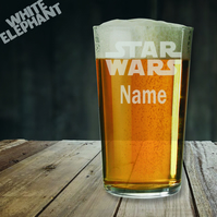Laser Etched Personalised Star Wars Whiskey-Highball-Pint-Tankard Glass