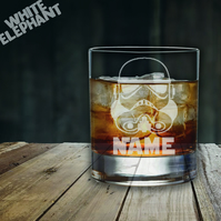 Laser Etched Personalised Storm Trooper Whiskey-Highball-Pint-Tankard Glass