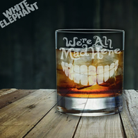 Laser Etched Alice in Wonderland Whiskey-Highball-Pint-Tankard Glass