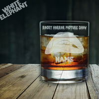 Laser Etched Rocky Horror Whiskey-Highball-Pint-Tankard Glass