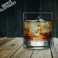 Laser Etched Personalised Evil Minion Whiskey-Highball-Pint-Tankard Glass