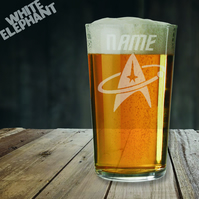 Laser Etched Personalised Star Trek Whiskey-Highball-Pint-Tankard Glass