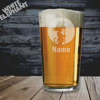Laser Etched Personalised Dragon Ball Z Whiskey-Highball-Pint-Tankard Glass