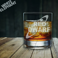 Laser Etched Red Dwarf Whiskey-Highball-Pint-Tankard Glass