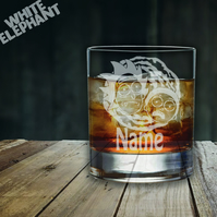 Laser Etched Personalised Rick & Morty Whiskey-Highball-Pint-Tankard Glass