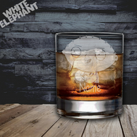 Laser Etched Personalised Family Guy Stewie Whiskey-Highball-Pint-Tankard Glass