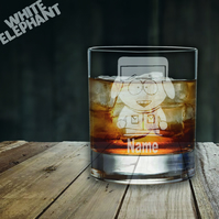 Laser Etched Personalised South Park Kyle Whiskey-Highball-Pint-Tankard Glass