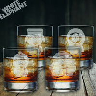 Laser Etched South Park Whiskey Glass Gift Set