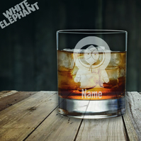 Laser Etched Personalised South Park Kenny Whiskey-Highball-Pint-Tankard Glass